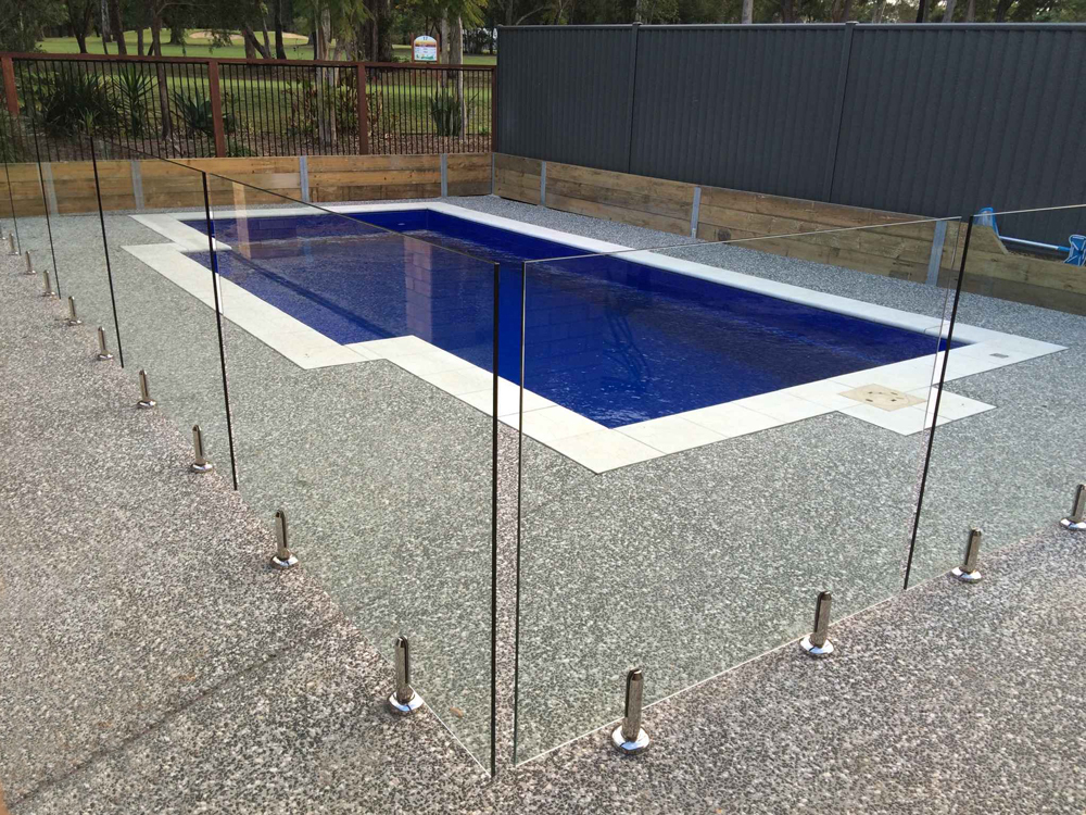 Round frameless glass fencing information glass pool for Glass pool fences